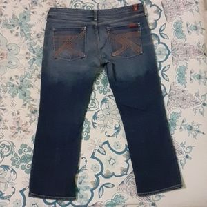 7 For All Mankind Flynt Cropped Jeans Pants 32